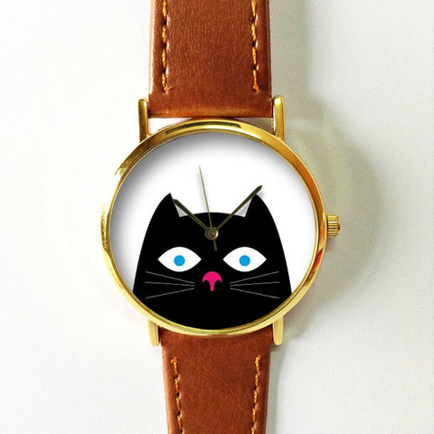 Peeping Black Cat Watch - Freeforme