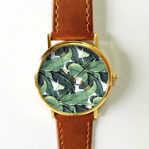 Tropical Leaf Palm Leaves Watch - Freeforme