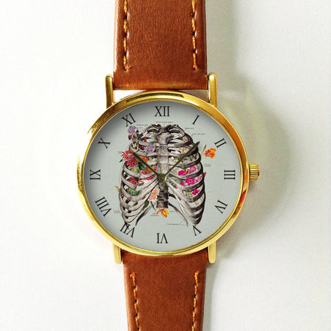 Steampunk Floral Rib Cage Watch - Freeforme