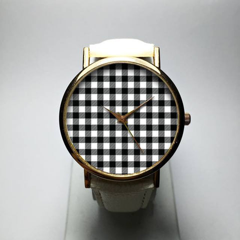 Black Gingham Watch - Freeforme