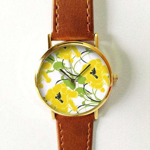 Yellow Flowers Watch - Freeforme