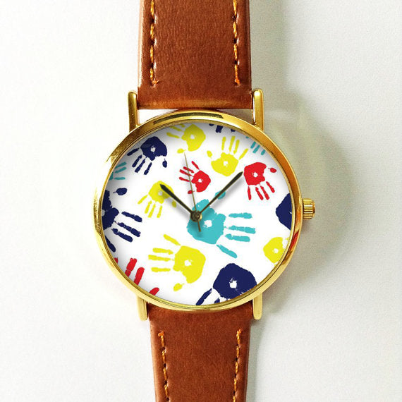Colorful Palm Prints Watch - Freeforme