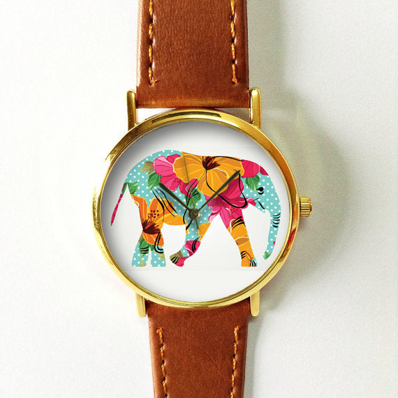 Elephant Floral Watch - Freeforme