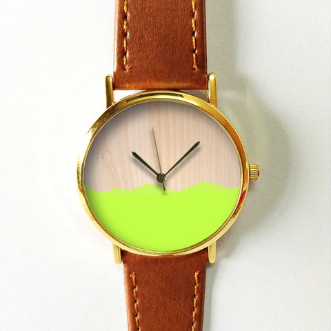 Paint on Wood Watch - Freeforme