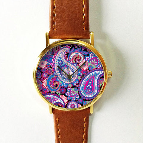 Purple Paisley Watch - Freeforme
