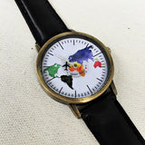 Pastel Colored World Map Watch - Freeforme