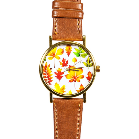 Autumn Fall Leaves Watch - Freeforme