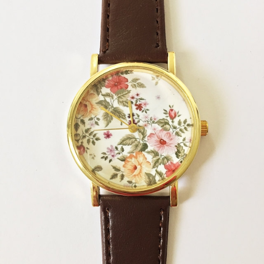 Autumn Rose Floral Watch - Freeforme