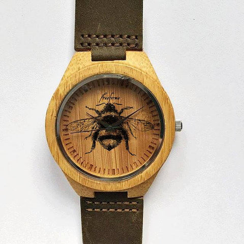 Vintage Bee Wooden Watch - Freeforme