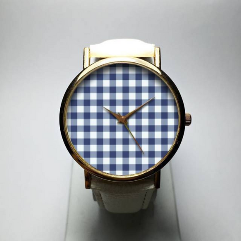 Blue Gingham Watch - Freeforme