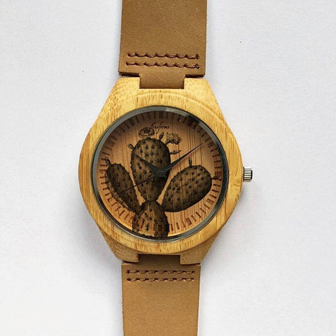 Cactus Wooden Watch - Freeforme