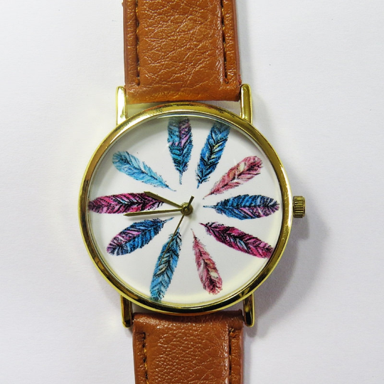Colorful Feathers Watch - Freeforme