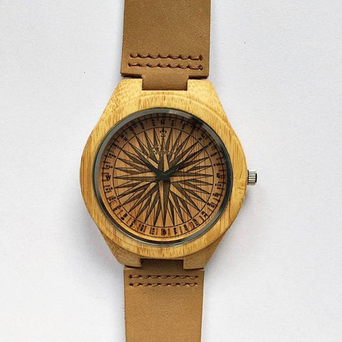 Vintage Compass Wooden Watch - Freeforme