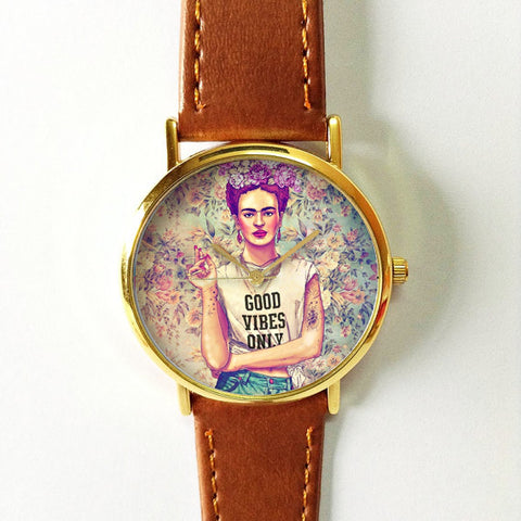 Frida Kahlo Good Vibes Watch - Freeforme