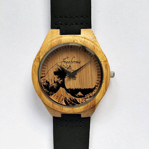 Great Wave Off Kanagawa Wooden Watch - Freeforme