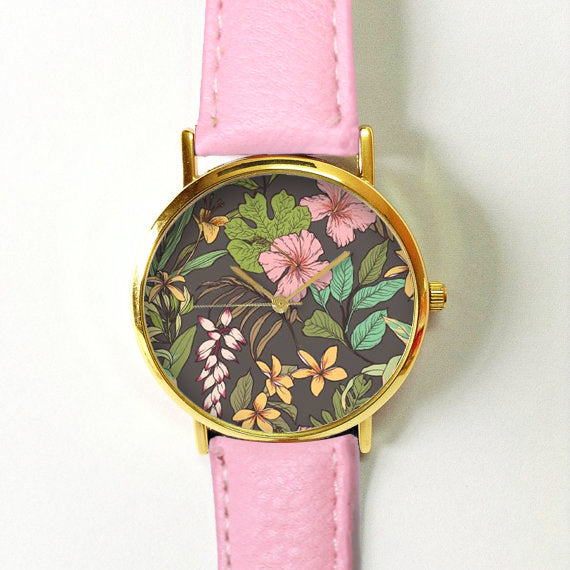 Tropical Flower Hibiscus Watch - Freeforme