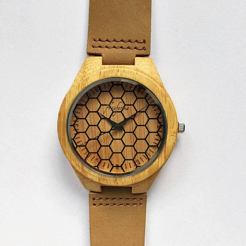 Honeycomb Wooden Watch - Freeforme
