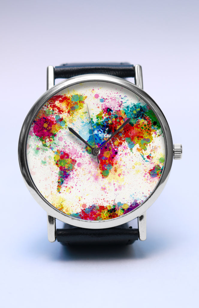Water Color World Map Watch - Freeforme