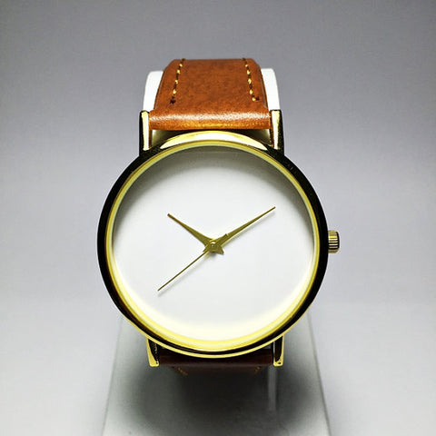 White Dial Minimalist Watch - Freeforme
