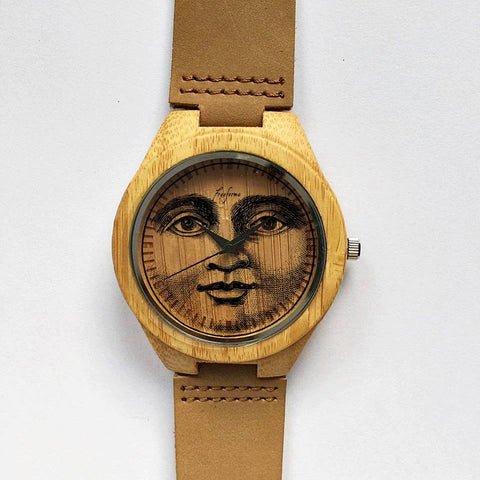Moon Face Wooden Watch - Freeforme