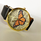Orange Butterfly Watch - Freeforme