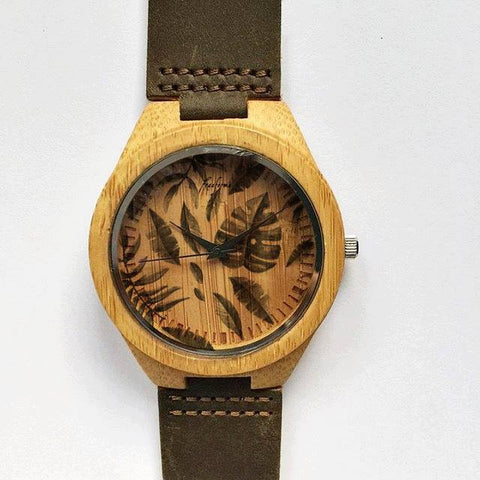 Palm Leaf  Wooden Watch - Freeforme