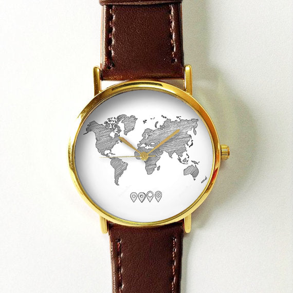 Sketched World Map Watch - Freeforme