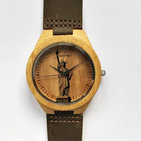 Statue of Liberty Wooden Watch - Freeforme
