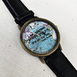 Travel Quote World Map Watch - Freeforme
