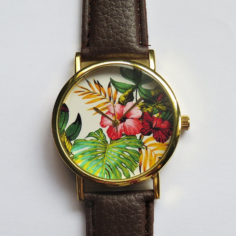 Tropical Hibiscus Watch - Freeforme