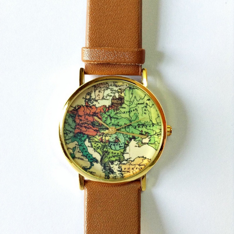 Vintage Map Watch - Freeforme