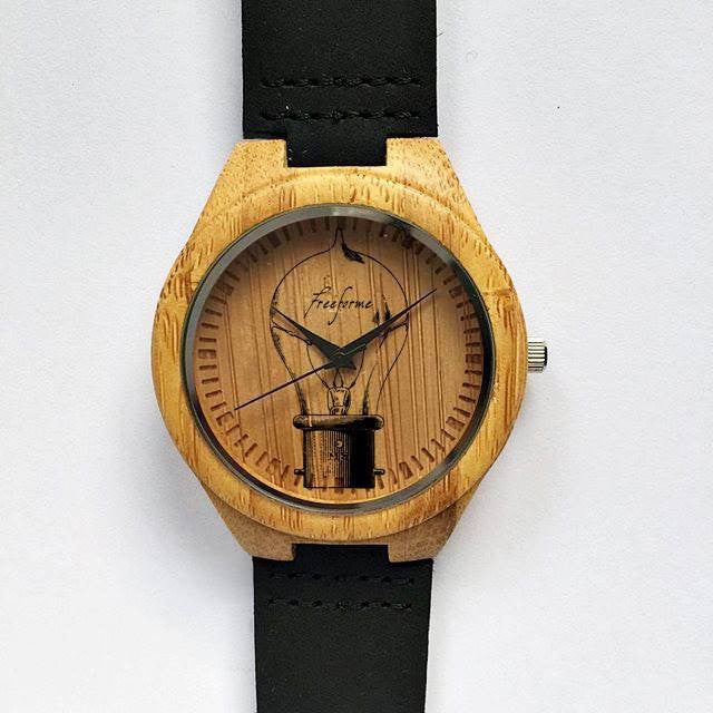Vintage Bulb Wooden Watch - Freeforme