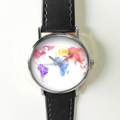Colored World Map Watch - Freeforme