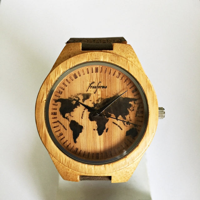 World Map Wooden Watch - Freeforme