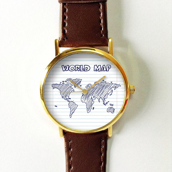 World Map Sketch Watch - Freeforme