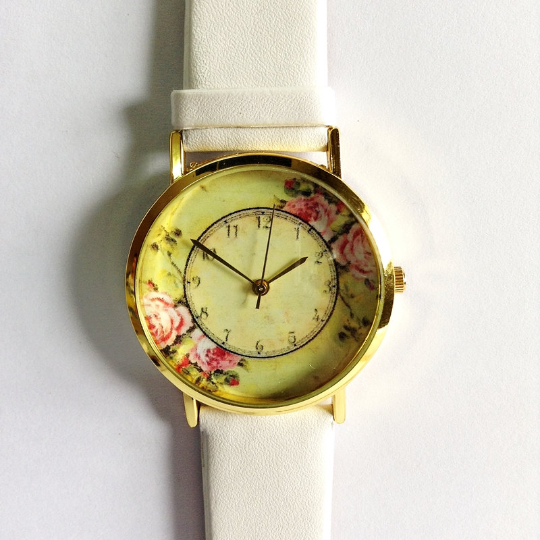 Yellow Floral Watch - Freeforme