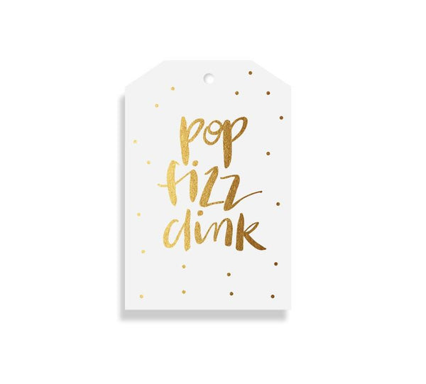 POP FIZZ CLINK Gift Tag