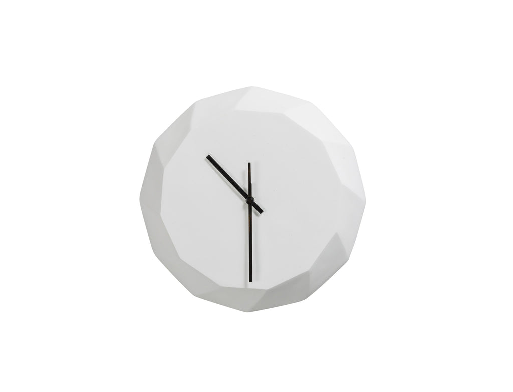 White Matte Concrete Wall Clock