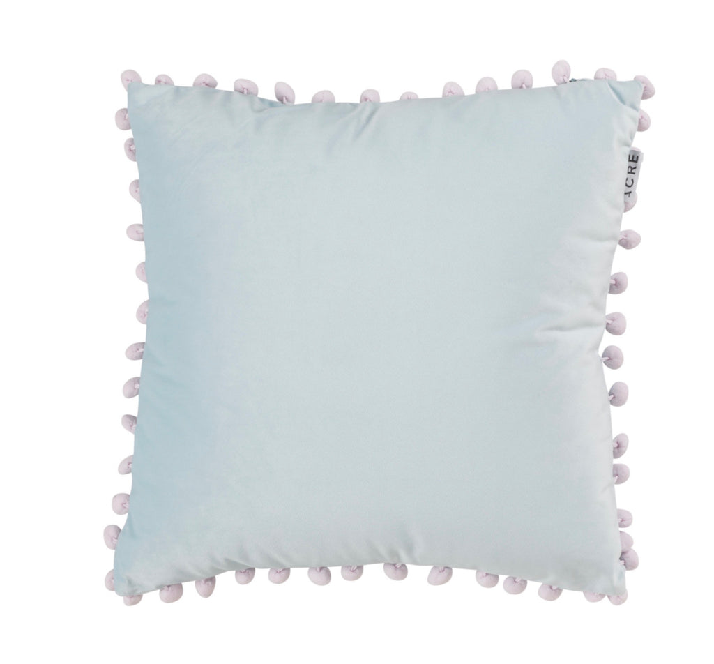 VELVET Cushion // Sky Blue + Lilac