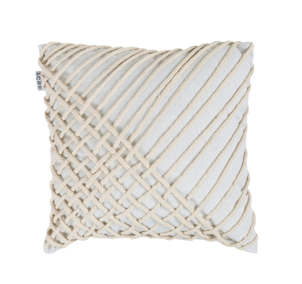 CORD Linen Cushion // Chalk
