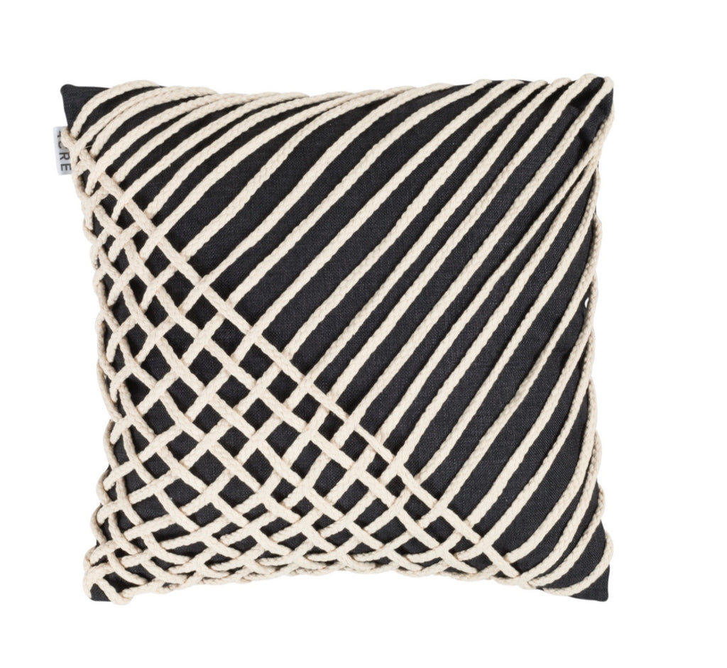 CORD Linen Cushion // Black