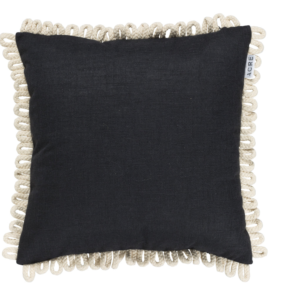 LOOP Linen Cushion // Black