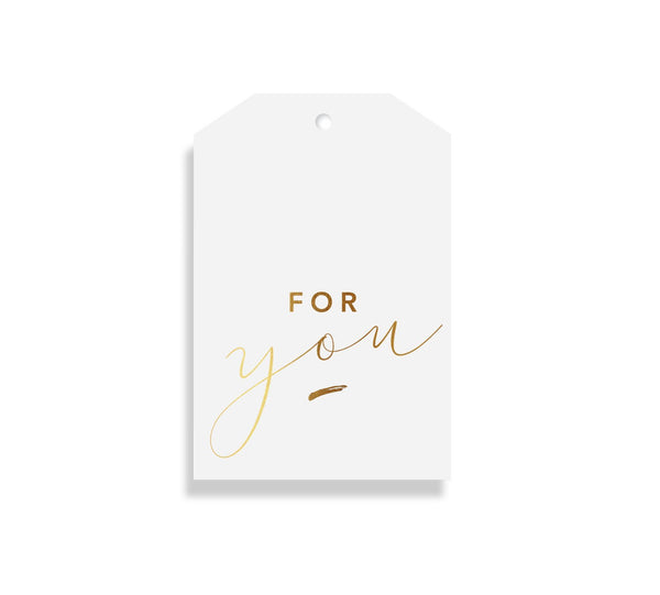 FOR YOU Gift Tag