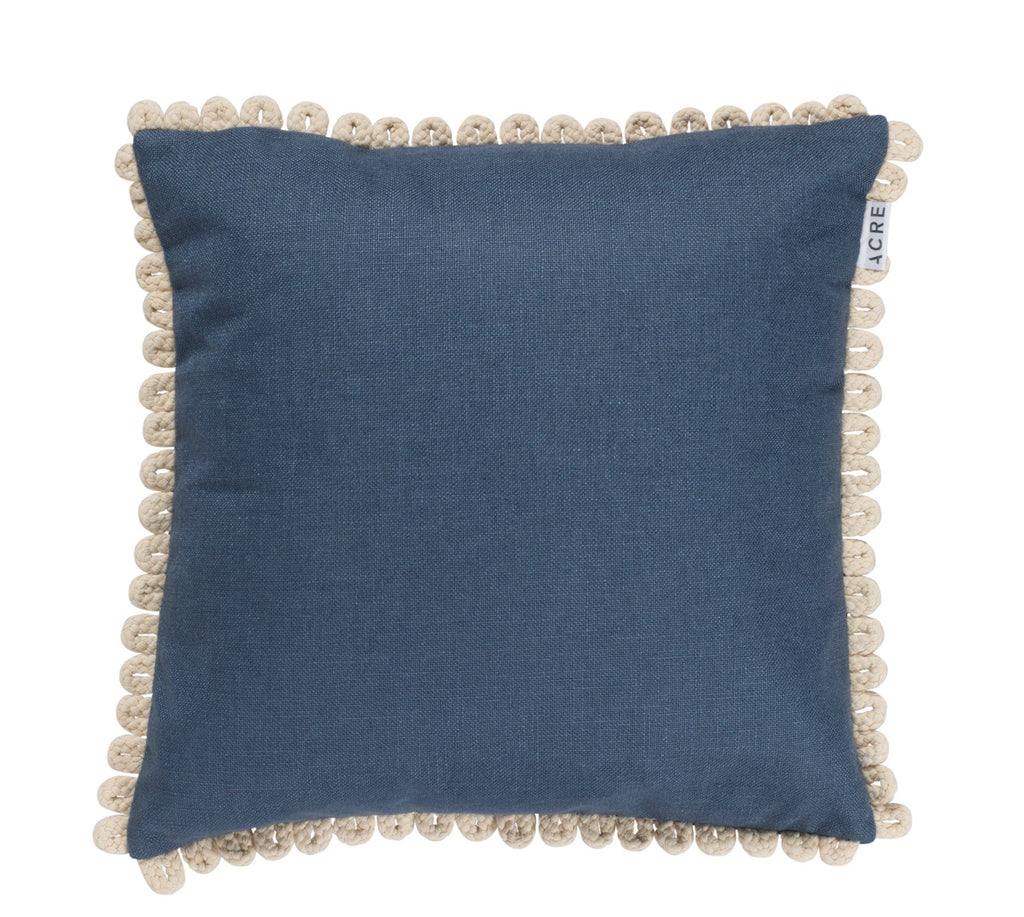 LOOP Linen Cushion // Navy