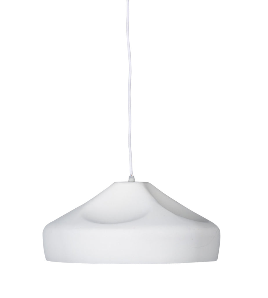 WOODY Matte White Pendant - Large