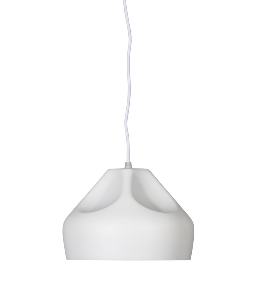 WOODY Matte White Pendant - Small