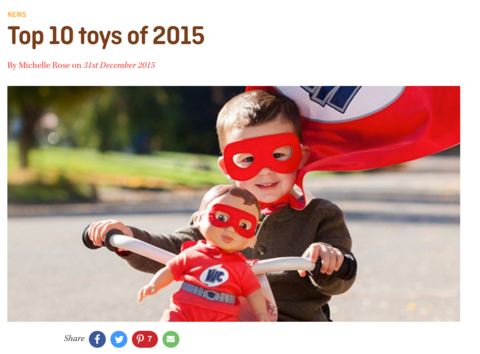 Babyology names Kippins number 2 toy of the year