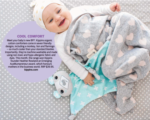 The Herald Sun features Kippins comfort toys