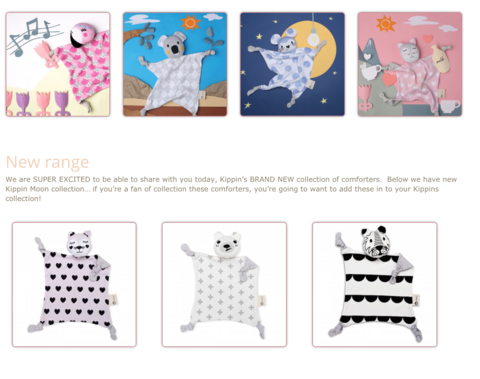 Kippins collection featured on Baby Berry Collective