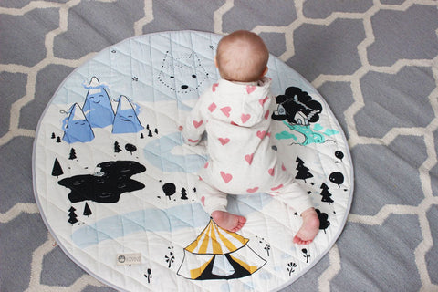 Baby on Kippins colour play mat